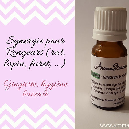 Gingivite, hygiène buccale - 10ml - Rongeurs - Aroma/Homéo