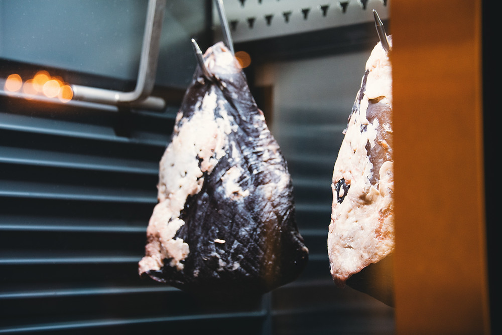 in-house dry aging process at Bohemia