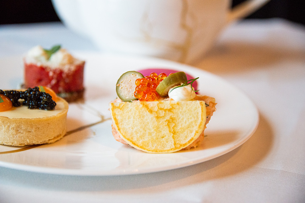 savory delicacies @ The Dolder Grand Art Afternoon Tea