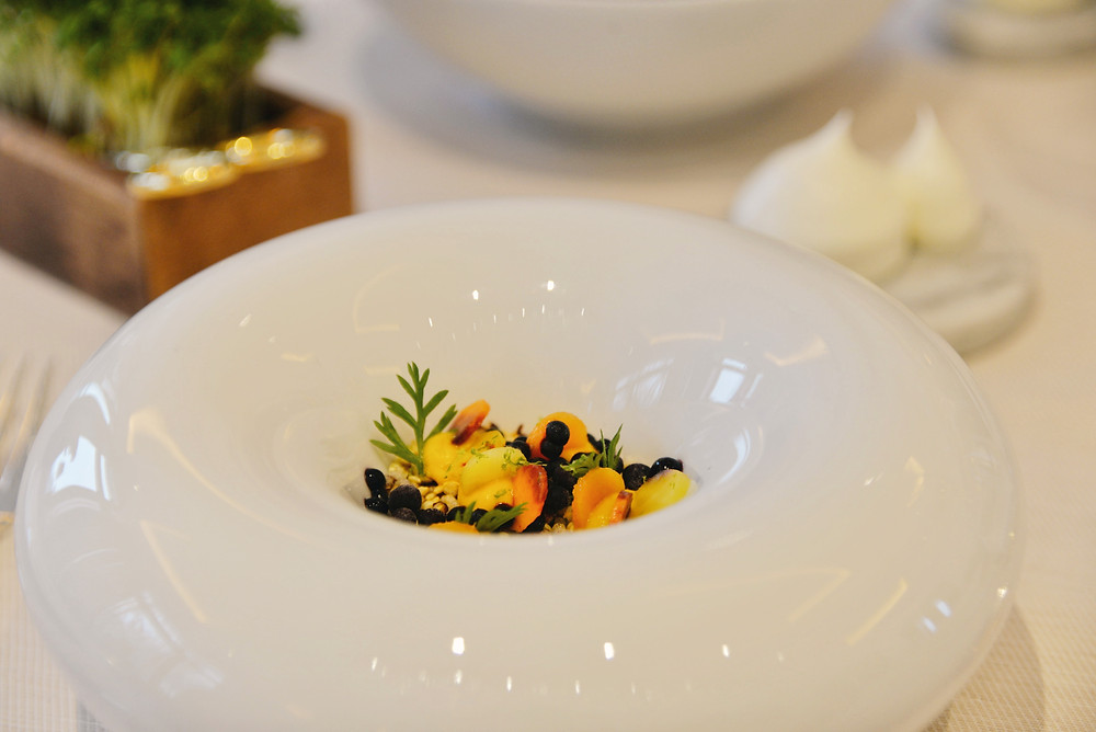 Alaska king crab, curry, carrot and lime