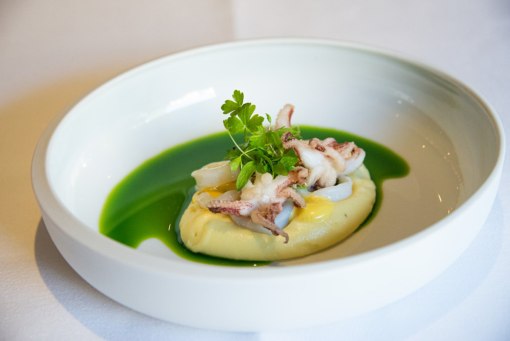 Little squids on aioli and parsley by Sebastian Rösch | Thefoodlovies