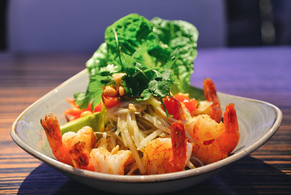 Som Tam, a typical Thai dish with Papaya salad