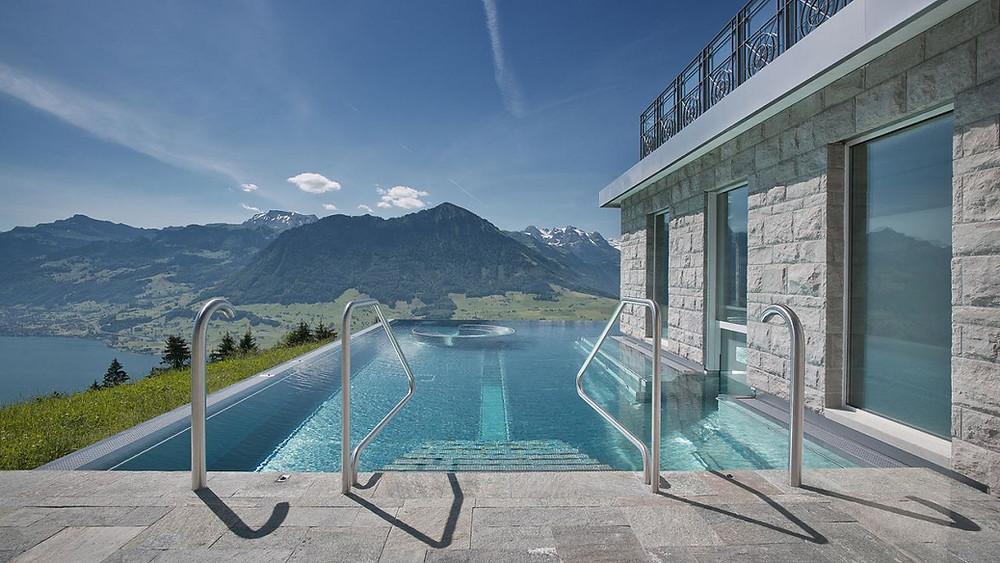 Pool @ Hotel Villa Honegg, copyright @Villa Honegg