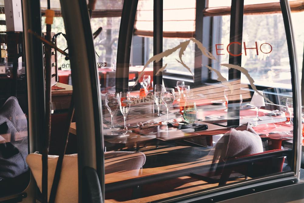 Gondola in the restaurant