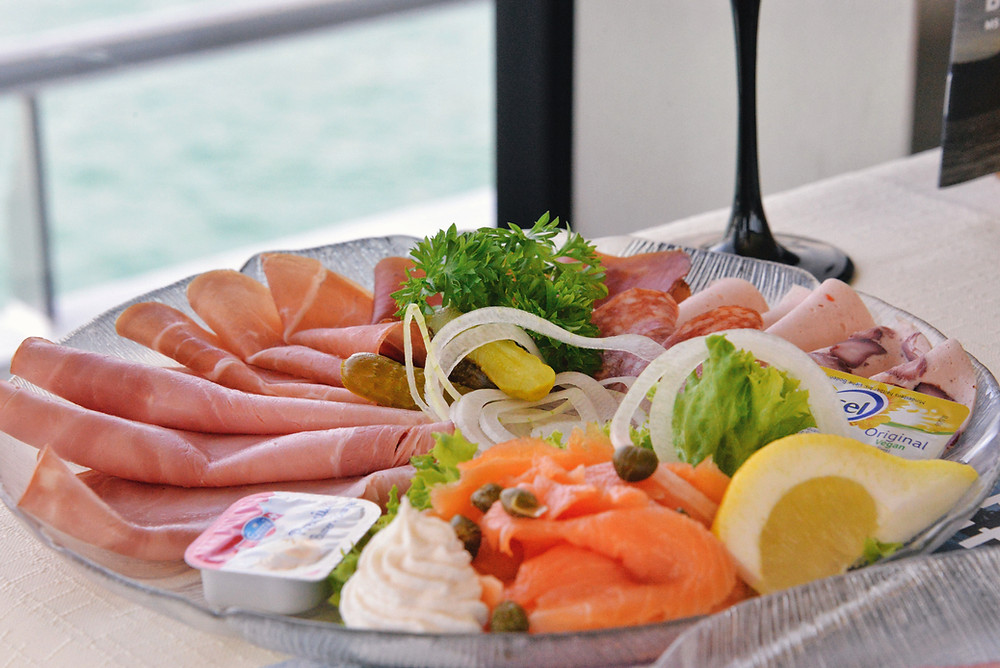 cold cuts and salmon