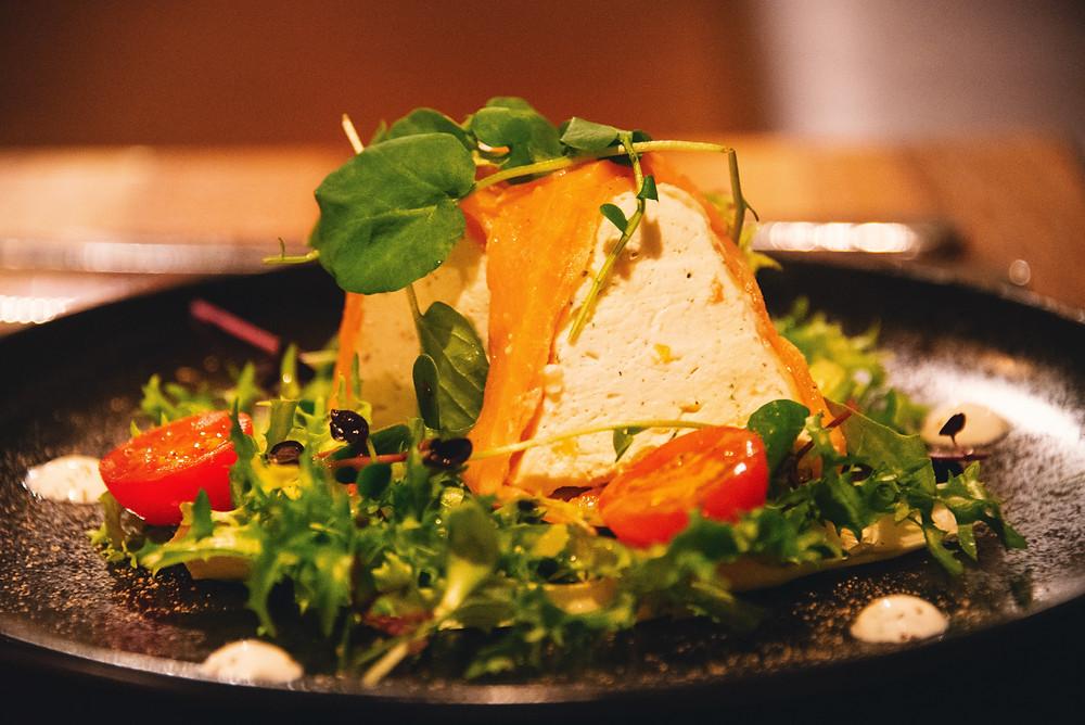 fresh salmon cheese terrine
