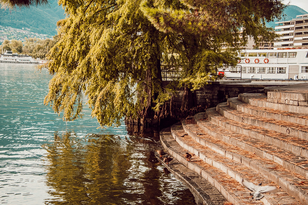 beautiful lake view in Locarno