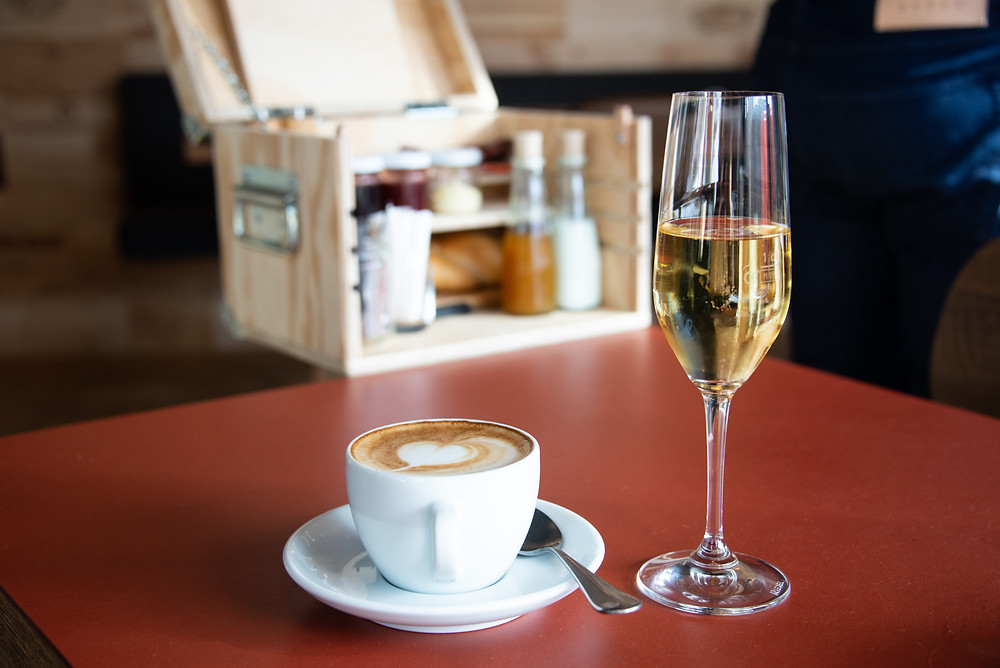 coffee and champagne