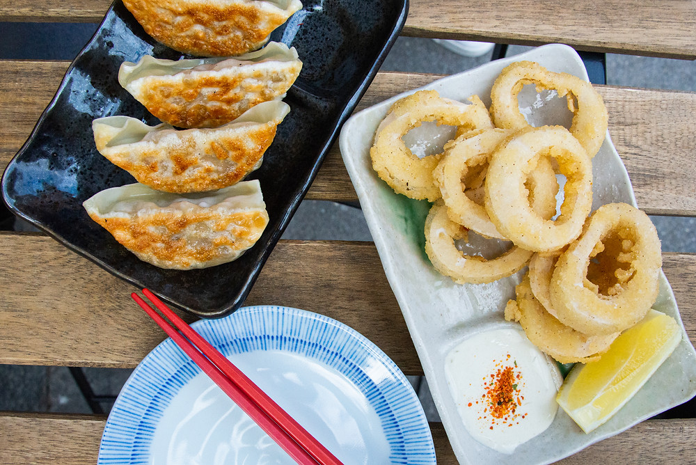 appetizers at Midori Ramen