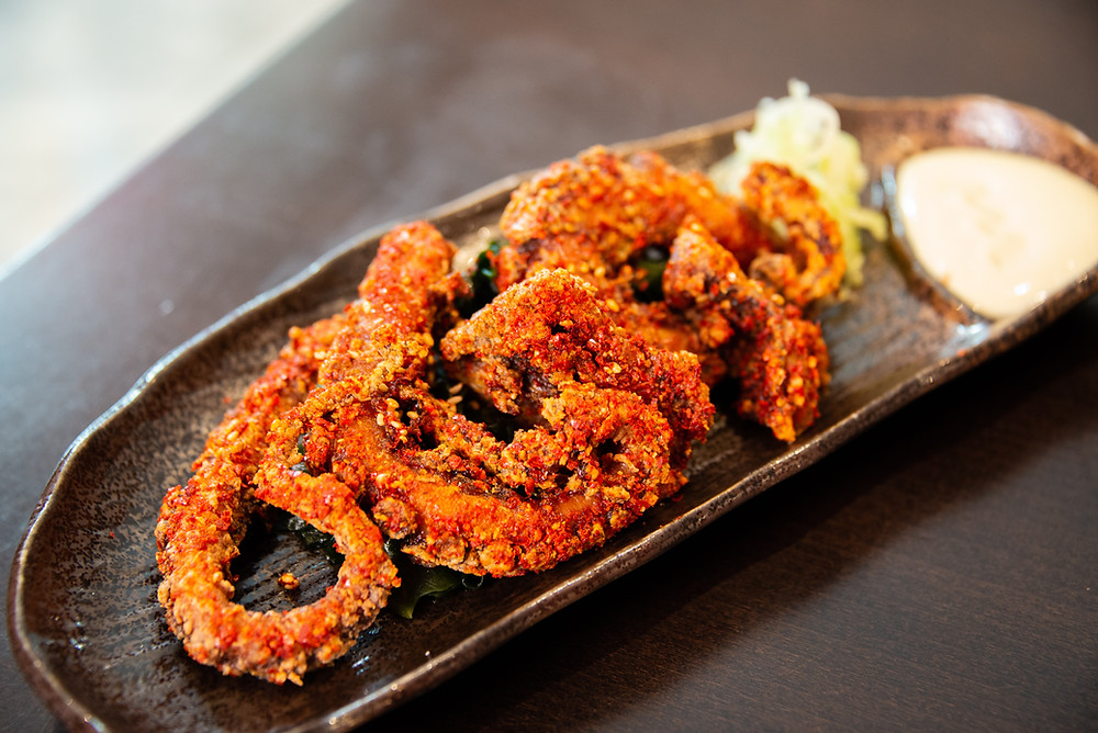 fried squid with Yuzukosho-mayonnaise