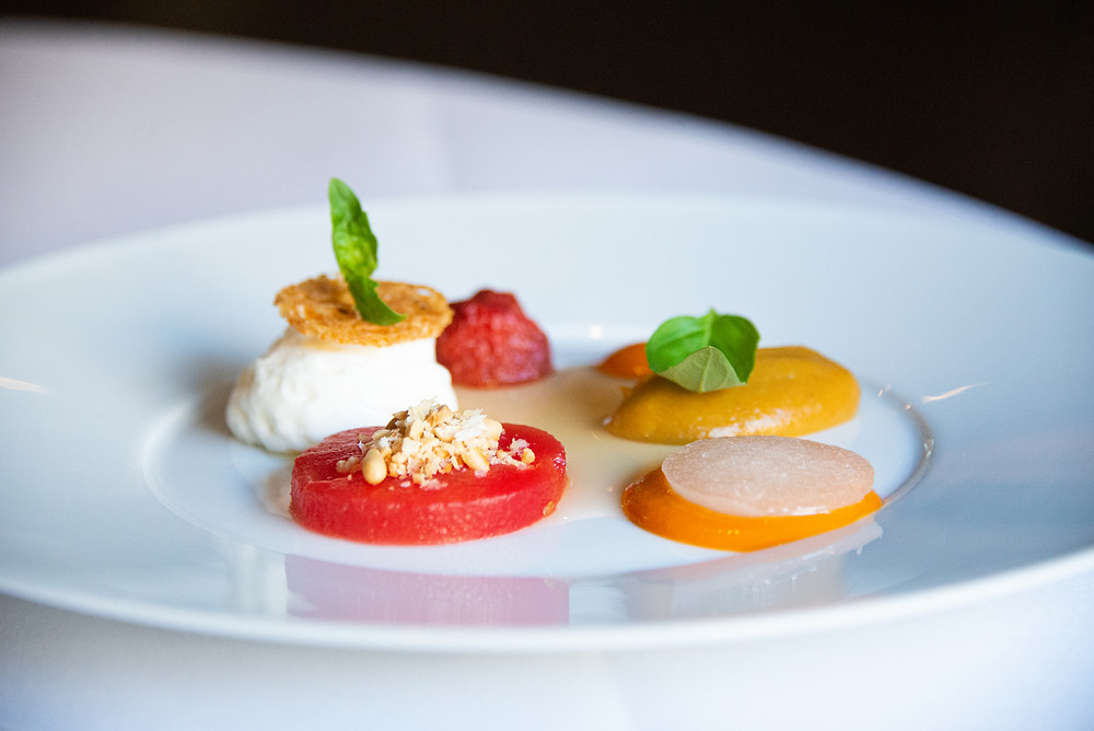 ced burrata with watermelon, tomato and basil by Sebastian Rösch | Thefoodlovies