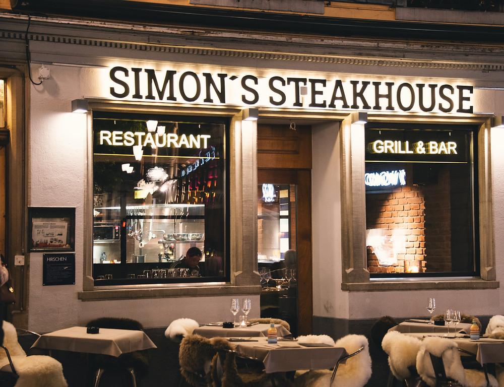 Simon's Steakhouse location