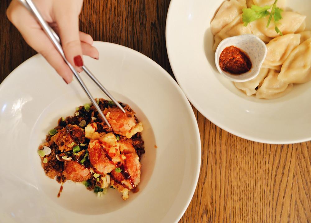 Soy Meat Pieces and Peking Dumplings