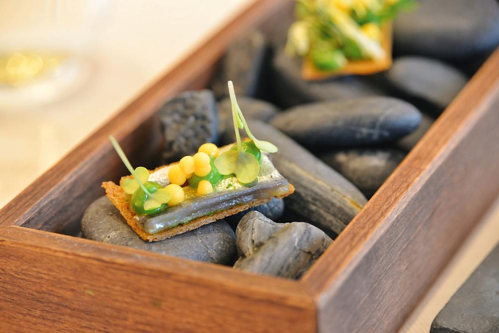 sardine with mustard and tarragon and vegetarian version