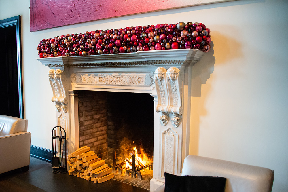 cozy fireplace @ The Dolder Grand
