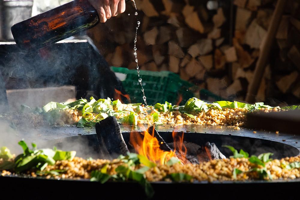 Pop-up Fire Kitchen @ Zum Alten Bahnhof Letten