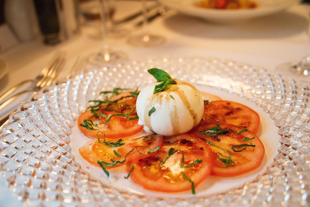 tomato carpaccio with burrata