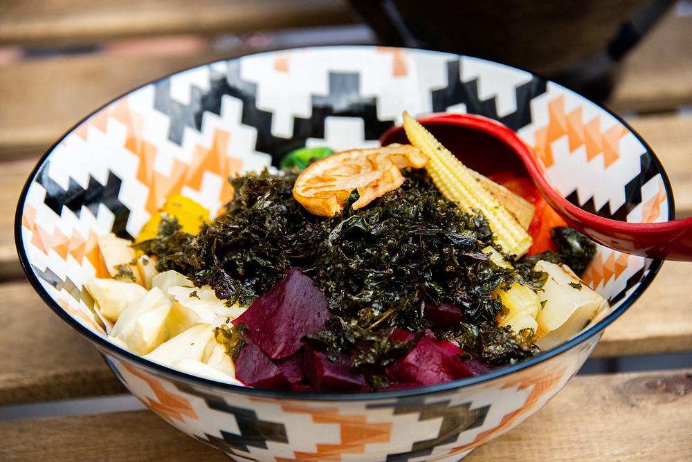 grilled veggie donburi