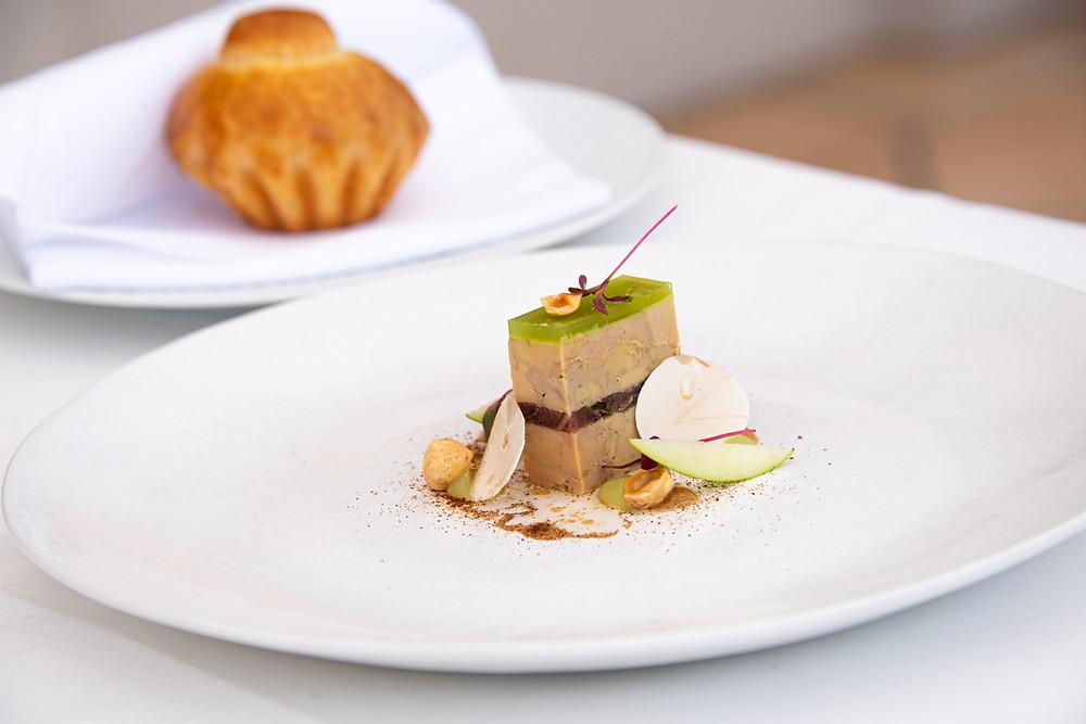 Foie Gras terrine with oxtail, green apple, mushroom and Ximénez Spinola & Brioche by Stefan Jäckel | Thefoodlovies