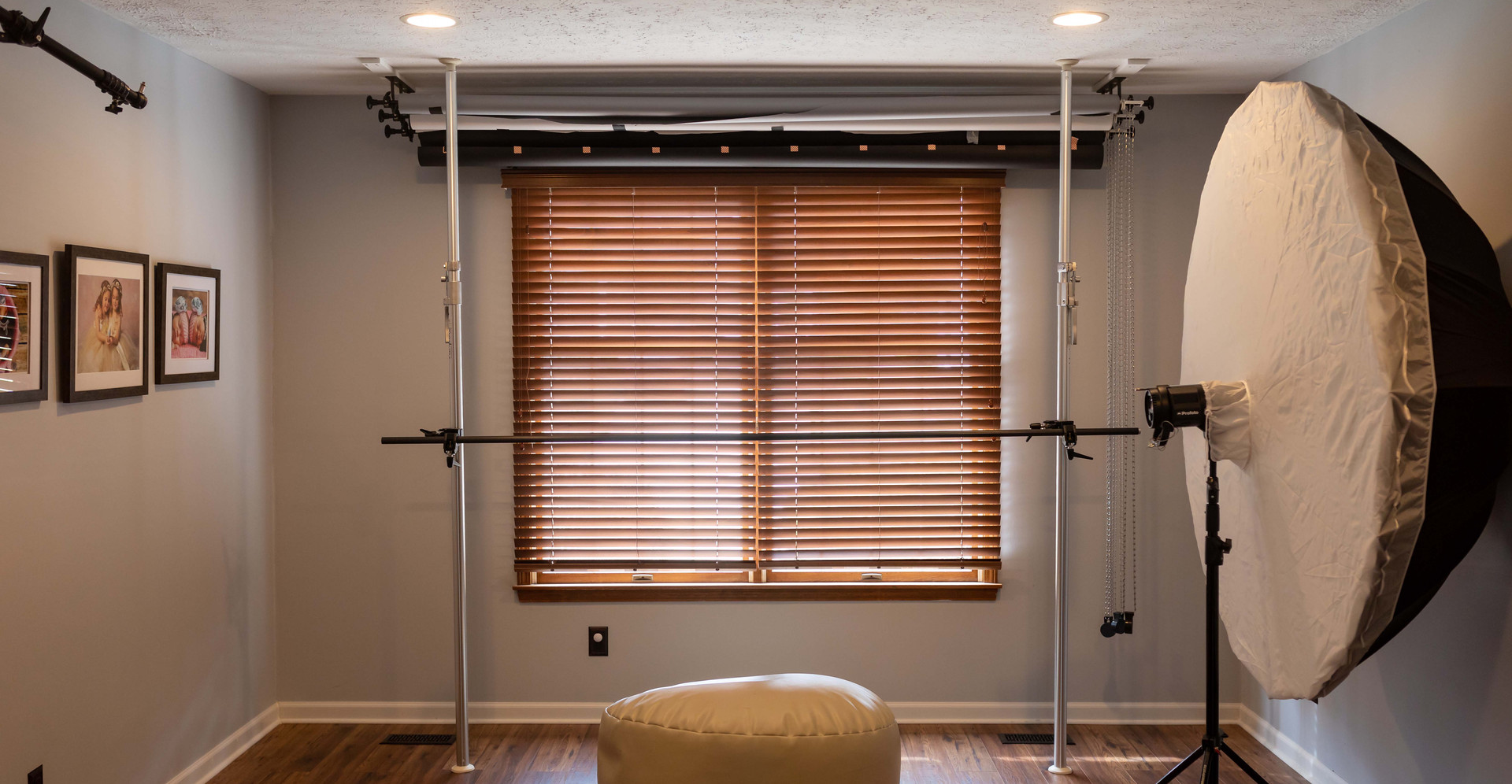 Large windows for natural light.