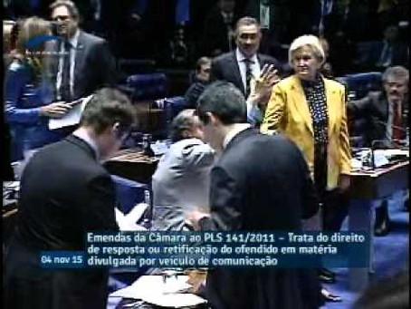 Votação do Plenário PLS141 211 Direito de Resposta