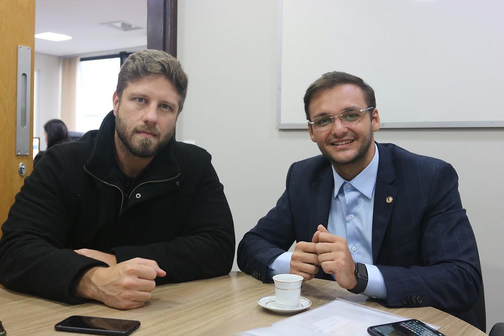 Deputados do PR e MA Requião Filho e Felipe dos Pneus