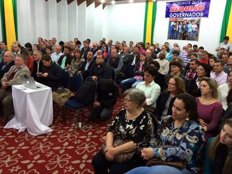Requião visitou Maringá e Campo Largo no final de semana