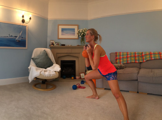 Working out at home