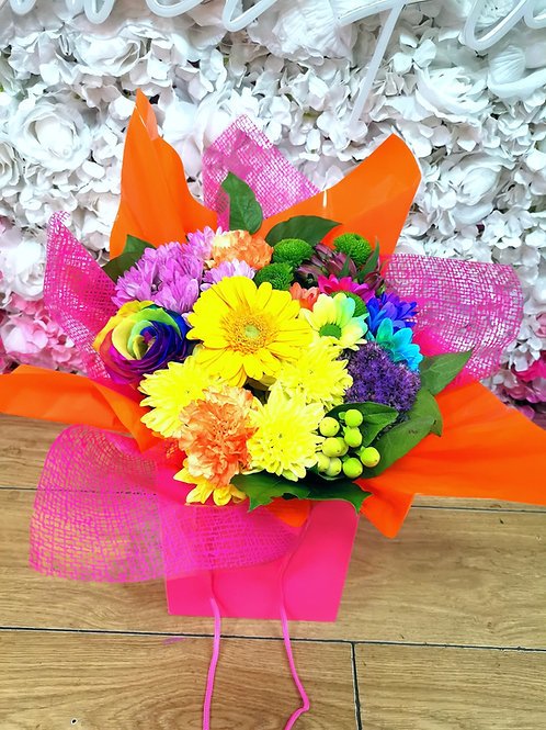 Bright bag of flowers
