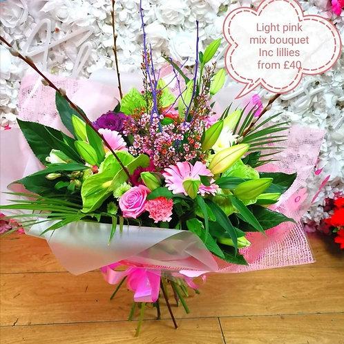 Light pink mixture bouquet
