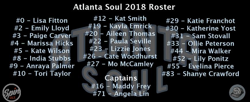 Atlanta Soul Roster