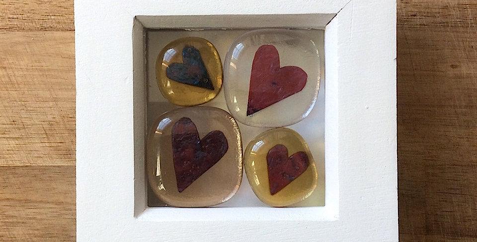 Framed Heart Stones