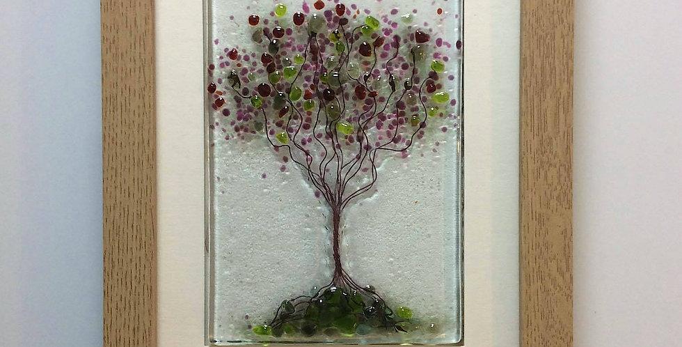 Framed Pink/Lime Blossom Tree