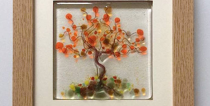 Framed Orange Blossom Tree