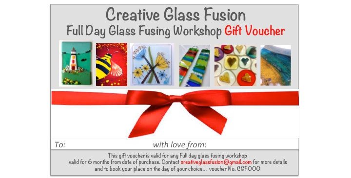 Full Day Glass Fusing Course Gift Voucher