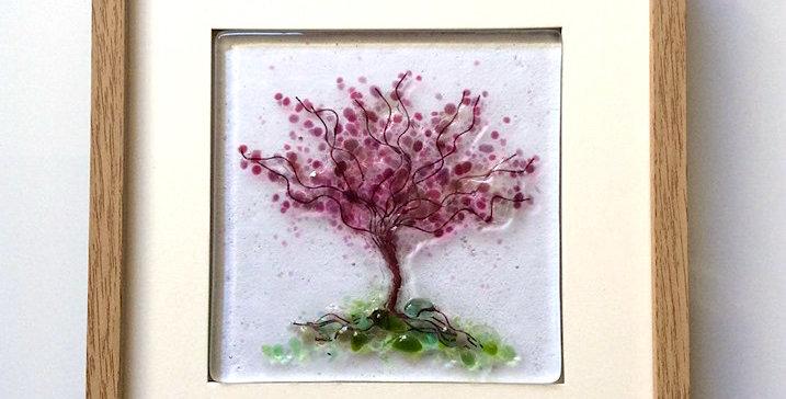Framed Pink Blossom Tree
