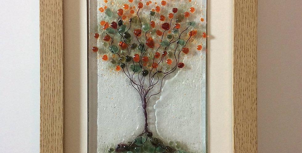 Framed Red Blossom Tree