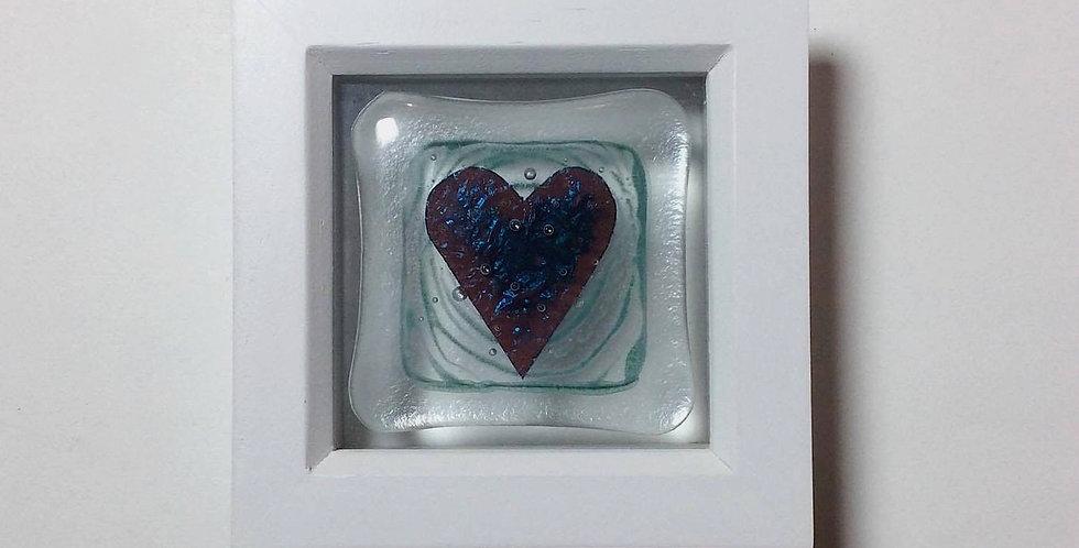 Framed copper Heart tile