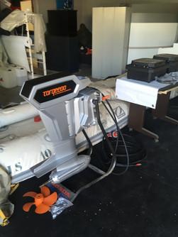Montage moteur éléctrique Torqeedo
