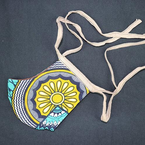 Behelfsmaske rund zum binden (medium)