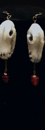 We Answer in a Voice mad of Teeth (Earrings)