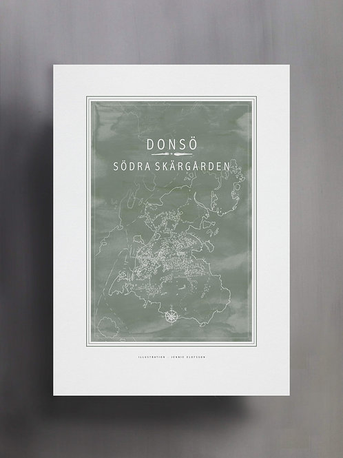 Karta över Donsö Södra Skärgåden