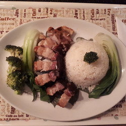 Chinese Pork with Pak Choi and Rice