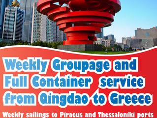 NEW DIRECT SERVICE! Qingdao to Greece