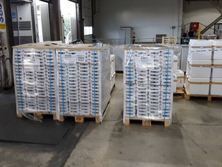 AKTIS AIR: Shipping 9ton loads (1/2) from Athens, Greece to Tel Aviv, Israel .