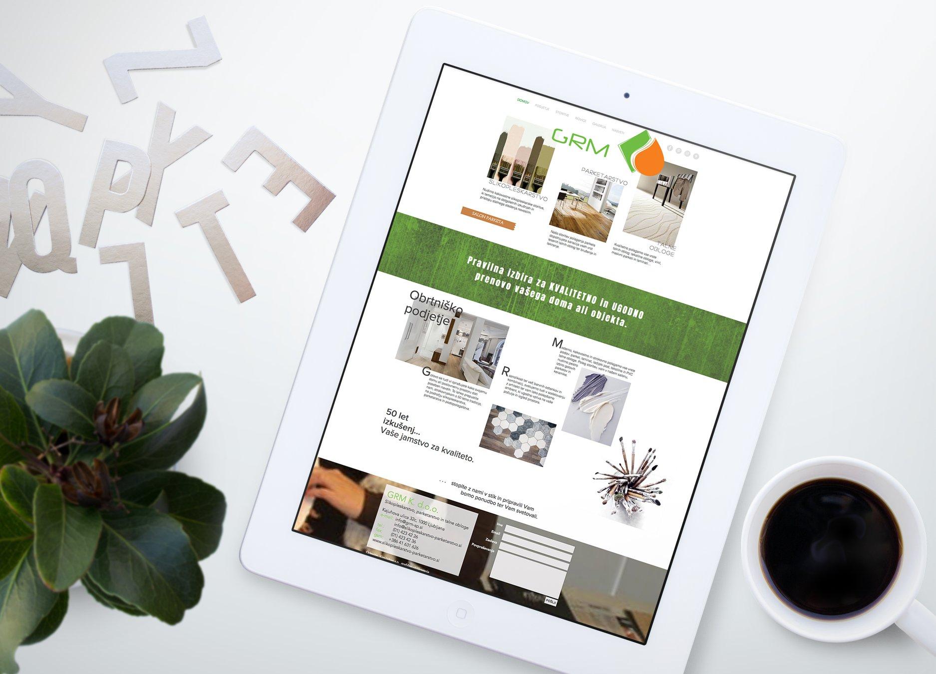 Grm-slikopleskarstvo-parket-spletna stran-qdesign-kimurbas-oblikovanje