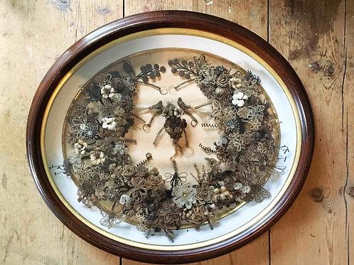 Couronne de cheveux victorienne / Victorian Hair Wreath