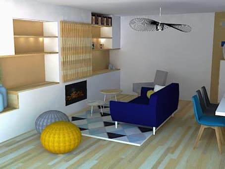 Claustra meuble TV & Bibliothèque