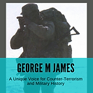 George M James logo, novels, military history