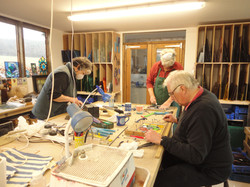 Stained Glass - students at work